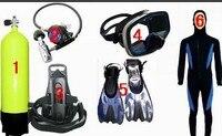 Оборудование для дайвинга, дайвинг оборудования кислорода бутылок полный спектр профессиональных водолазный костюм одежды поставляет обо