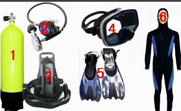 diving equipment, diving equipment oxygen bottles full range of professional diving suit of clothes supplies equipment por equipment