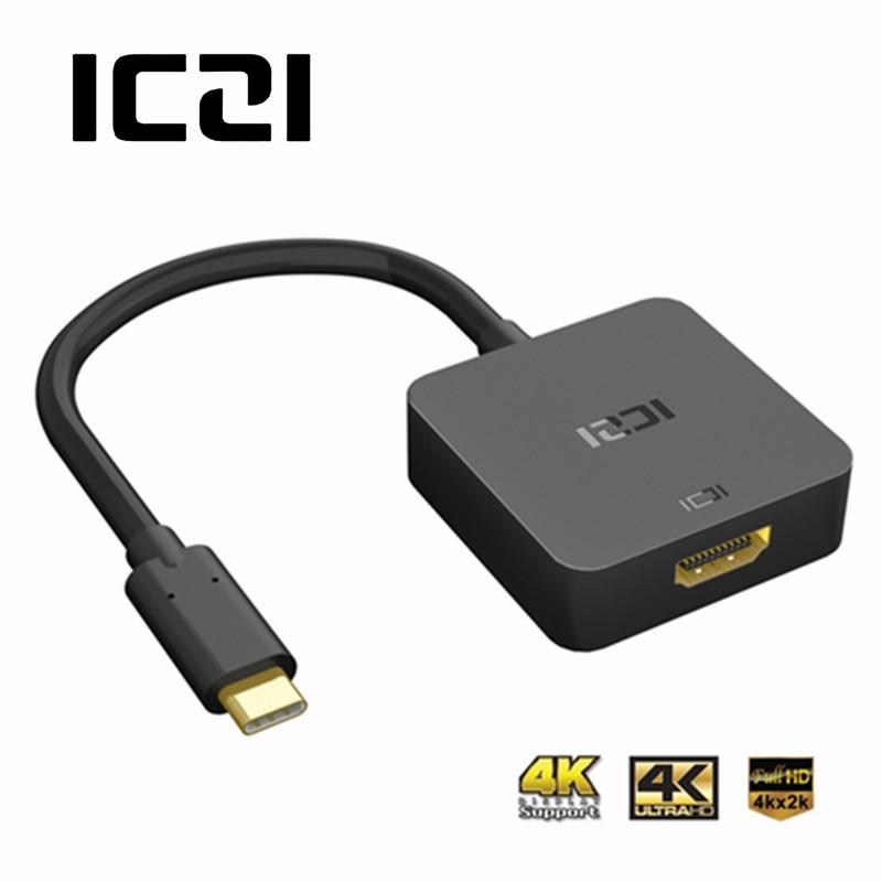 ICZI 4 karat USB 3.1 Typ C zu HDMI Adapter (Thunderbolt 3) USB C zu HDMI Kabel Für MacBook Chromebook Pixel Lenovo Yoga 900