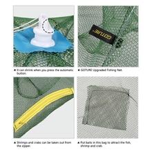 Goture Automatic Fishing Net Shrimp Cage Nylon Foldable Crab Fish Trap Cast Net Cast Folding Fishing Network