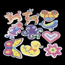 10 plantillas de pc para cuentas perler de 5mm, patrones de mosaico térmico para cuentas hama, cuentas perler Plantilla de bola de papel con papel de colores