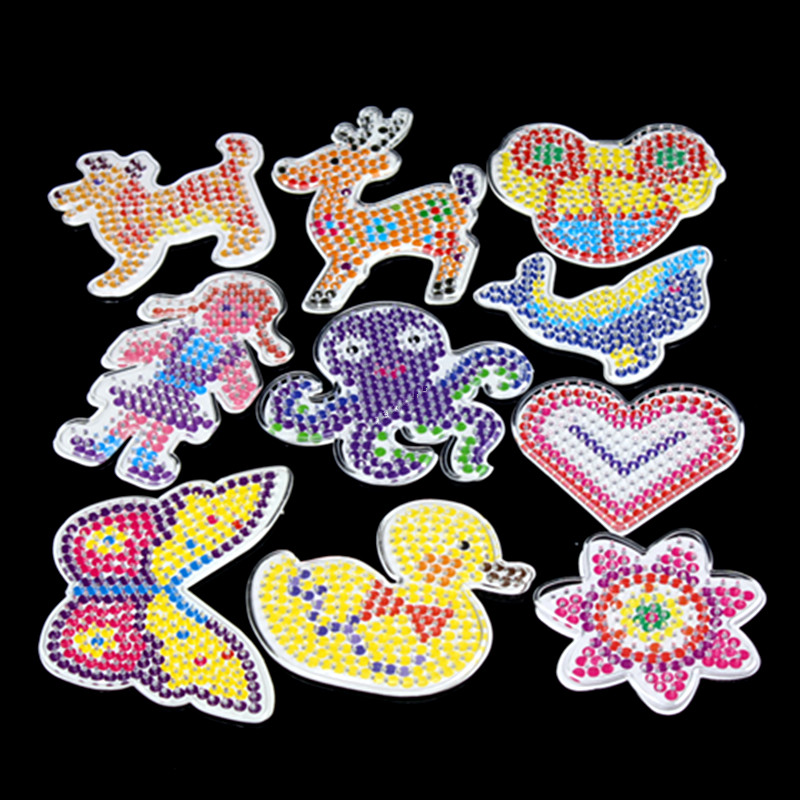 10pc templates for 5 mm perler beads,thermo mosaic Patterns for hama beads,beads perler paper ball template with colored paper(China)