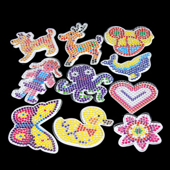 10pc Templates For 5 Mm Perler Beads,thermo Mosaic Patterns For Hama Beads,beads Perler Paper Ball Template With Colored Paper