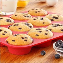ULKNN DIY 12 pcs Bakeware Baking Silicone Mold Cake Cupcake Cup Tool and Muffin
