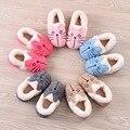 Мальчики девочки зимние тапочки утолщаются теплые мягкие плюшевые хлопок детская бытовая обувь милый мультфильм противоскользящие дети тапочки