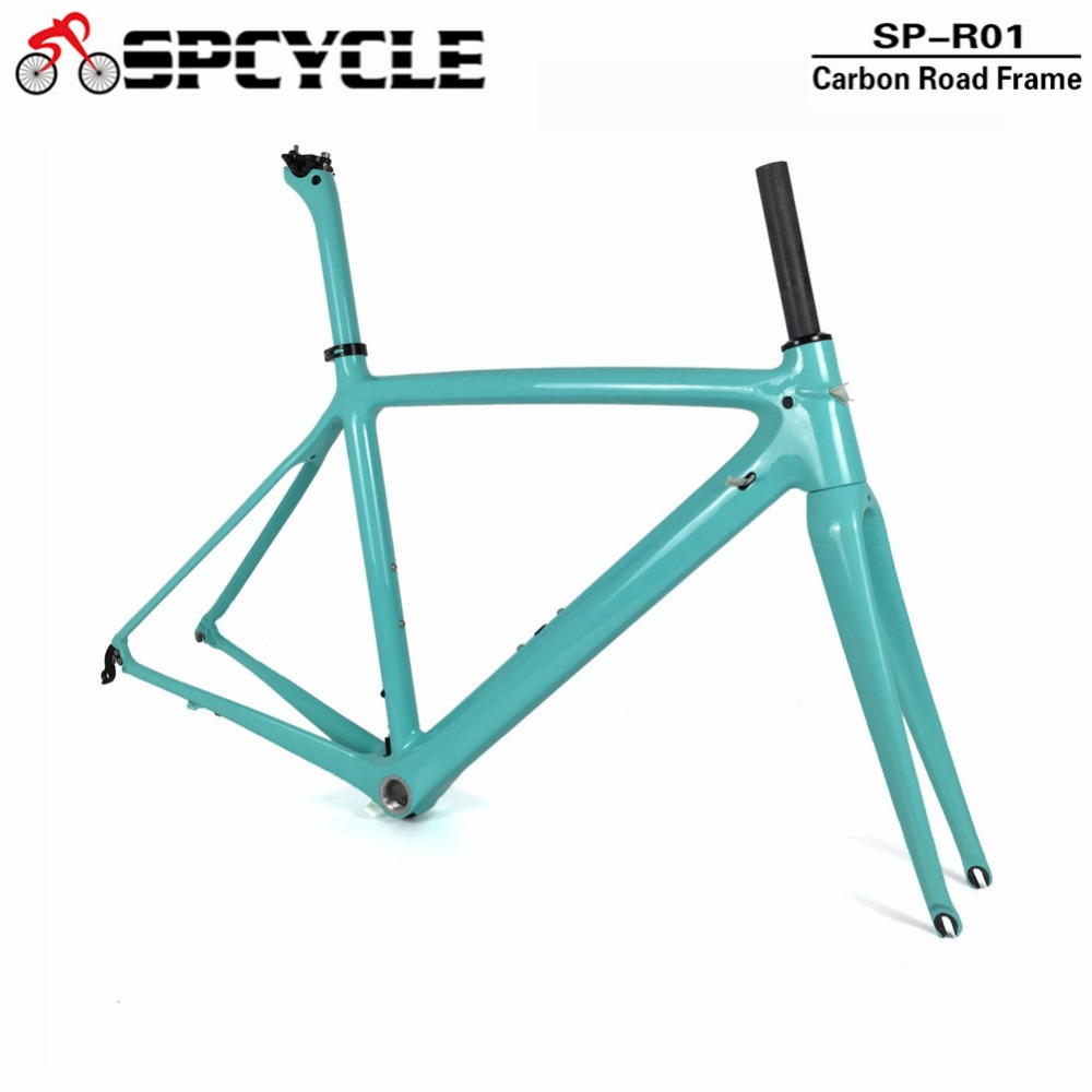 Spcycle T1000 Full Carbon Road Bike Frame BSA Racing Bicycle Carbon Frames Fork Seatpost 8 Colors Available 2 Year Warranty smileteam 2018 new bsa carbon road bike frameset t800 carbon 700c racing bicycle frame with fork seatpost 2 year warranty