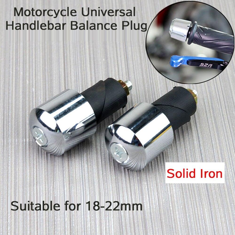2pcs 7/8 Inch Motorcycle Handlebar  Balanced Plug Universal Handle Bar End Grips Slider 22 Mm Handle Bar Grips Ends Solid Iron