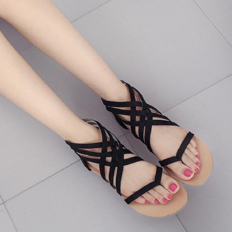 67f582910b64 2018 Fashion Flip Flops Women Sandals Casual flat summer shoes Woman  Footwear Comfort Rome Female Beach Gladiator Sandals BT715-in Women s  Sandals from ...