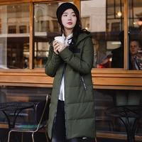 INMAN New Winter hooded printing long warm white eiderdown jacket female leisure