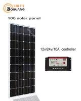 Boguang 100 Вт монокристаллического кремния ячейки модуль панели солнечных батарей 12 В/24 В/10A контроллер MC4 для 12 В батареи свет Главная мощность