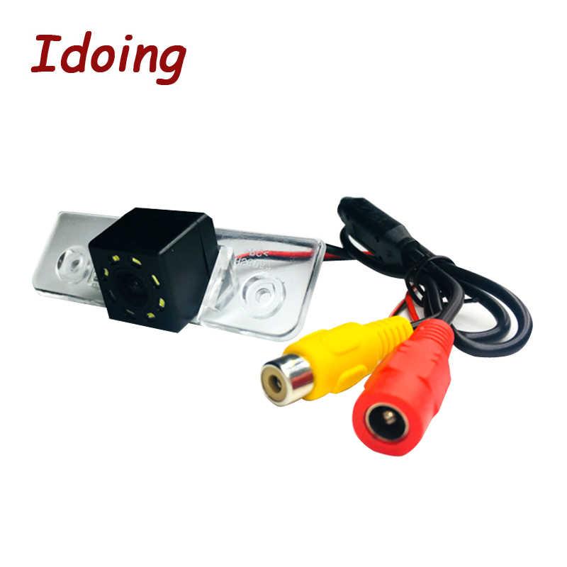 Idoing CCD Автомобильная задняя камера для Skoda Octavia 2 Автомобильный мультимедийный DVD аудио vedio-плеер