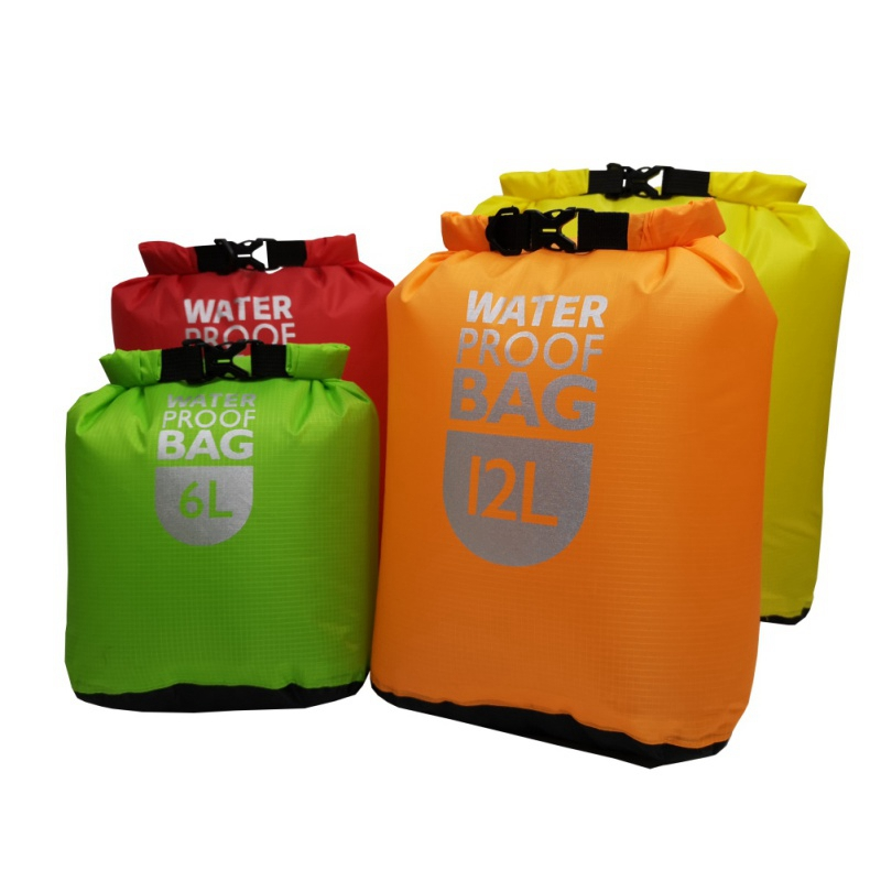 6/12/24L Swimming Rafting Kayaking River Trekking Bags Waterproof Dry Bag Pack Sack Floating Sailing Boating Quick Drying Bag
