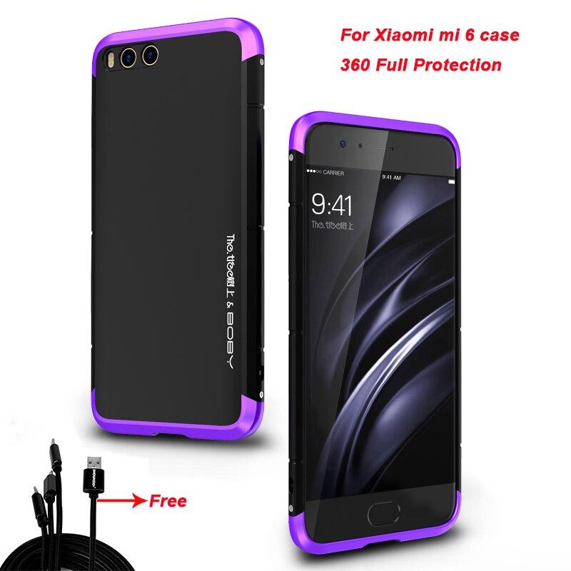 Showkoo 3 in 1 Luxury For xiaomi mi 6 case cover Metal aluminum + PC For xiaomi mi6 back cover hard protective Coque Wholesale