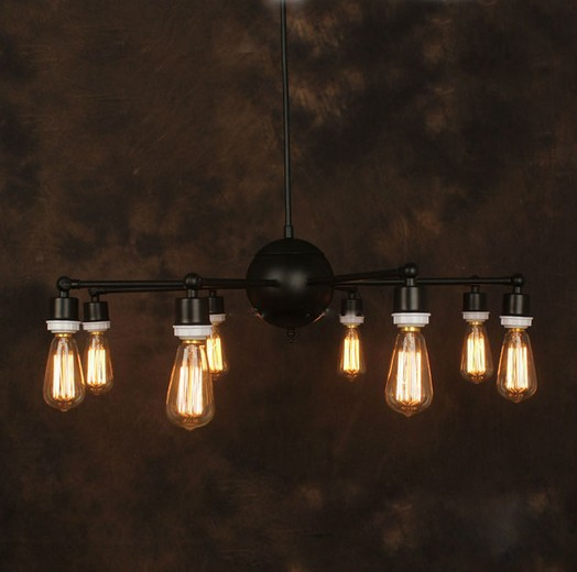 Vintage Iron Chandelier Industrial Edison Lamp Country Style E27*8pcs Ancient Loft Bar Restaurant Kitchen Pendant Lamps nordic vintage chandelier lamp pendant lamps e27 e26 edison creative loft art decorative chandelier light chandeliers ceiling