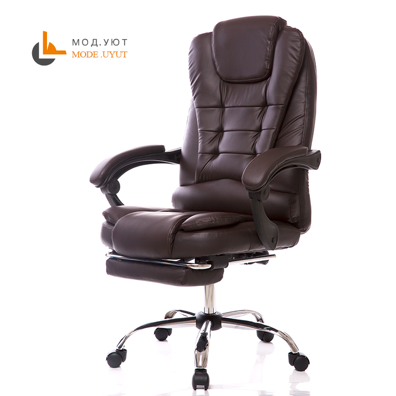 special offer office chair computer boss chair ergonomic chair with footrest high quality office computer chair comfortable ergonomic boss staff chair multifunctional household rotary chair
