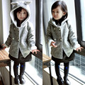 New 2015 Autumn kids jacket Children's cartoon rabbit ear winter coat sleeve fashion baby bonny coat girl's coat baby jacket