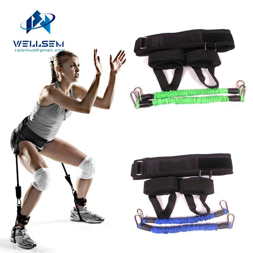 Wellsem Vertical entrenador de salto resistencia pierna Horizontal saltando aptitud para baloncesto tenis Running resistencia