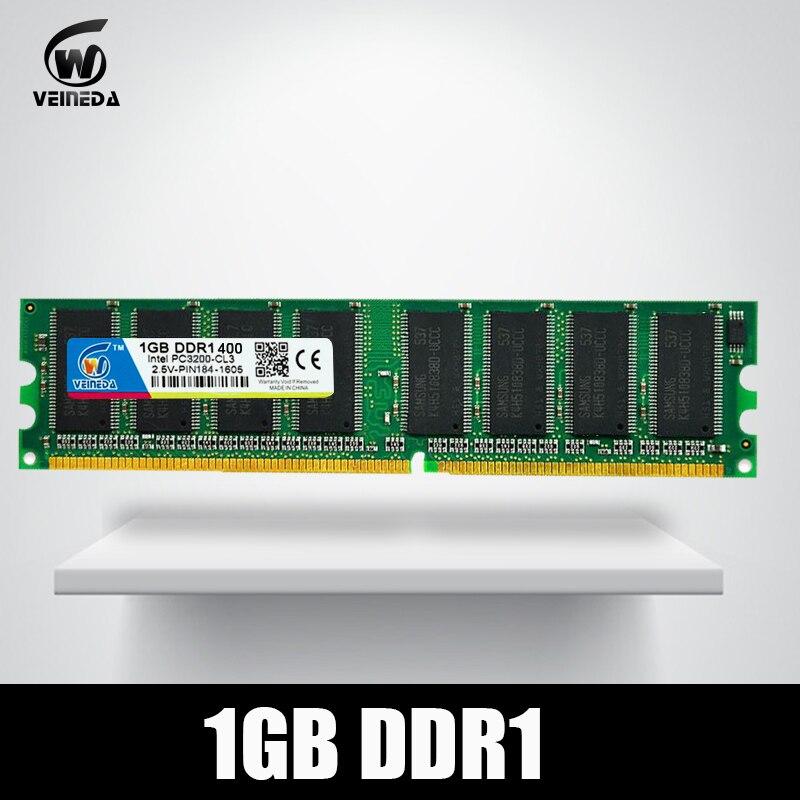 VEINEDA ddr memoria ram DDR 1 1 GB Rams 400 PC3200 apoyo PC2100 DDR 266 MHz Sdram, PC3200 ddr 333