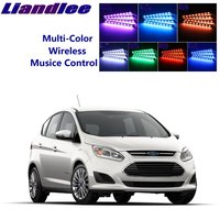 LiandLee Car Glow Interior Floor Decorative Atmosphere Seats Accent Ambient Neon light For Ford C Max C Max CMax