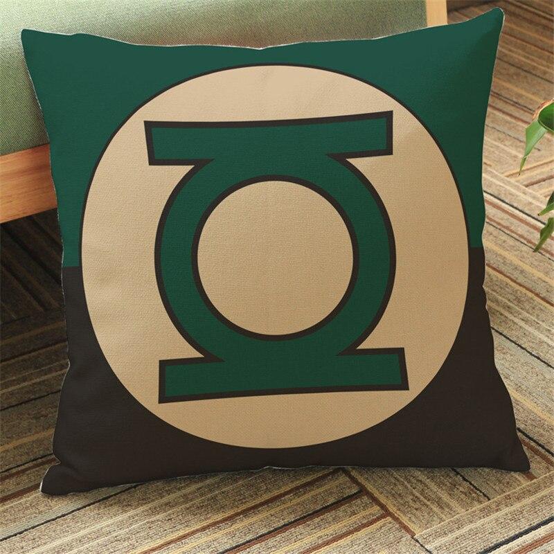 Супер Герои label Чехлы для подушек Подушки Детские случае Супермен bitman флэш-зеленый фонарь украшения дома клуб офис стул для подарка