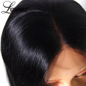 Image 4 - 150% 女性のためのショートボブウィッグブラジルの Remy 毛ストレートレースフロント人毛ウィッグ側部漂白ノットサイズ
