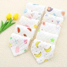 Baby Face Towel 25x25cm 6 layers Muslin Cotton Soft Towels  Handkerchief Bathing Feeding Washcloth Wipe burp cloths