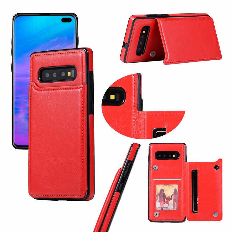 財布三星銀河 A10 A20 E A30 A40 A50 s A70 S10 E S9 S8 S7 エッジ注 8 9 10 プラスホルダー電話カバー小箱