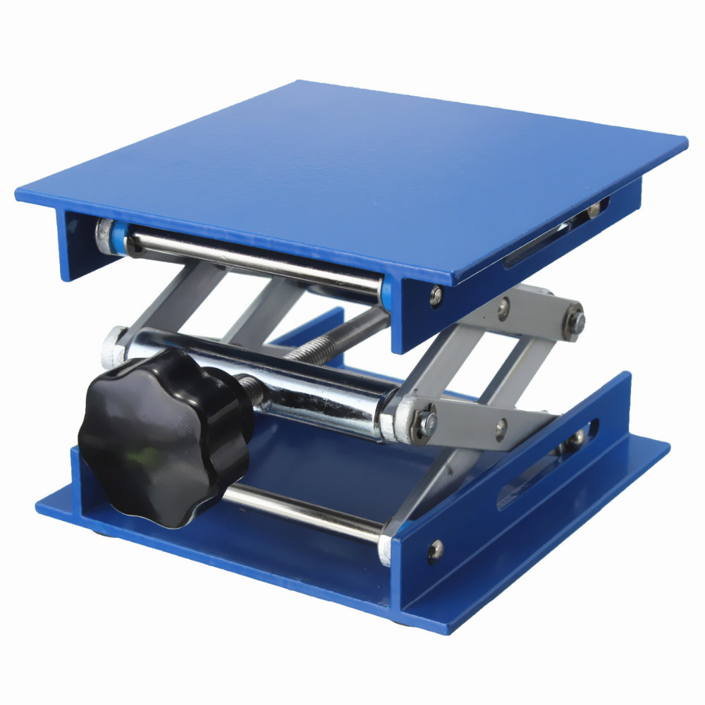"""Image 2 - 4x4"""" Lab Lift Lifting Platforms Stand Rack Scissor Lab Lifting Aluminum 4cm 15cm-in Furniture Accessories from Furniture"""