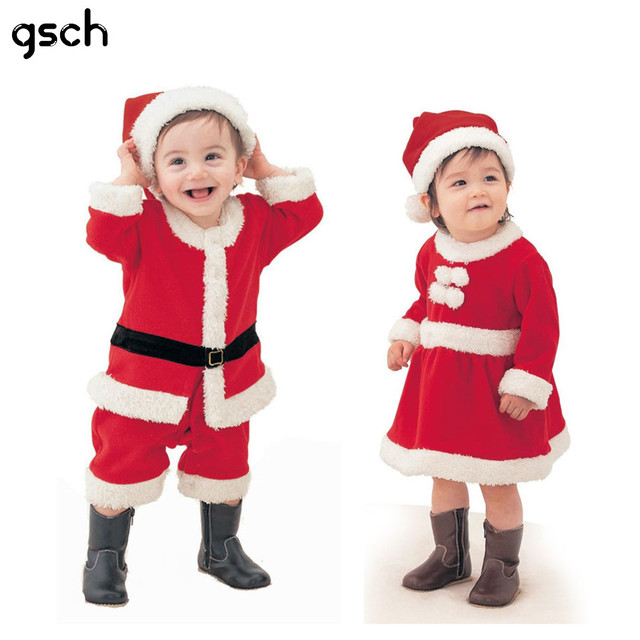 73bf116b2839 Baby Girl Clothes Cotton Baby Christmas Costume Outfits Boys Santa ...