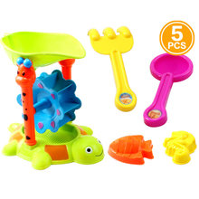 Plastic Beach Sand Play Toys Set Children Kids Seaside Bucket Shovel Rake Toy(China)