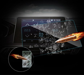 Car Dashboard Navigation Tempered Glass Screen Protective Film Sticker GPS LCD Guard For Peugeot 3008 5008 4008 2017 2018 image