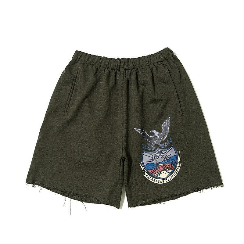 2019 Season 5 Shorts Best Quality Kanye West Calabasas Eagle Women Men Streetwear Men Shorts Pants Calabasas