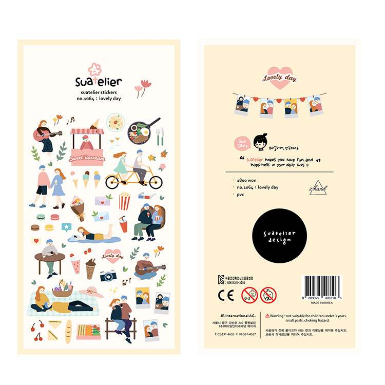 Lovers Daily Series Bullet Journal Decorative Stationery Stickers Scrapbooking DIY Diary Album Stick Label