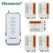 Y-F211A1N5 hesunse Пять способов цифровой ВЧ Беспроводной Дистанционное Управление Переключатель 220 В 5Ch приемники и 1 передатчик 110 В 433 мГц