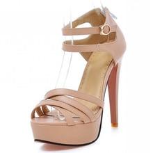 2015 mode schuhe mit hohen absätzen partei süße sommer schuhe peep toe high heels schuhe frauen sandalen damen pumps größe 34-43