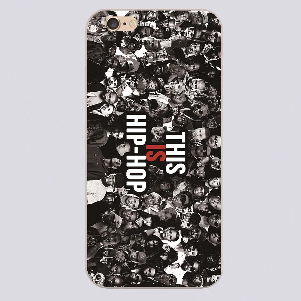 Hip Hop Rap Design black skin case cover cell phone cases for iphone 4 4s 5 5c 5s 6 6s 6plus hard shell
