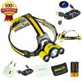 BORUIT RJ-3000 Plus Zoomable Led Headlamp headlight Full set New Grade Mirco Connector Charger for your phone USB cable