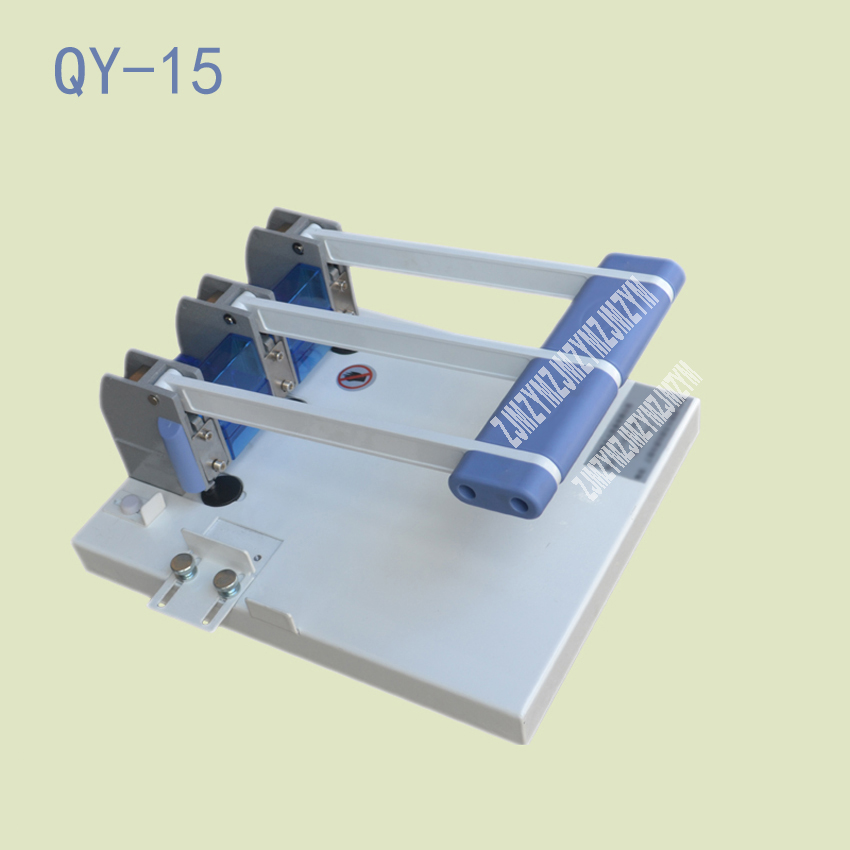 1PC Q-15 Heavy Duty Ream Guillotine A4 Size Stack Paper Cutter Paper Cutting Machine,punching machine 3mm/4mm/5mm/6mm цена