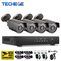 Techege 8CH 1080P HDMI Output AHD-M DVR 1200TVL 1280*720P Outdoor 1300TVL Weatherproof CCTV Camera System Surveillance Kits