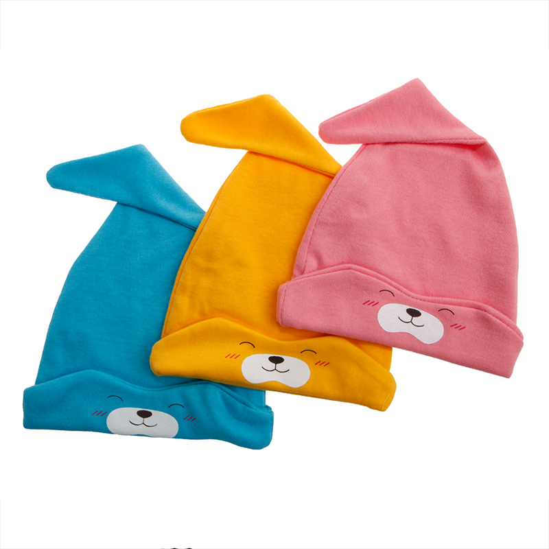 Boy Girl pink/blue/yellow Toddler New Unisex Cotton Soft Cute Hat with Sleep Cap stylish number 5 soft hat cap grey pink