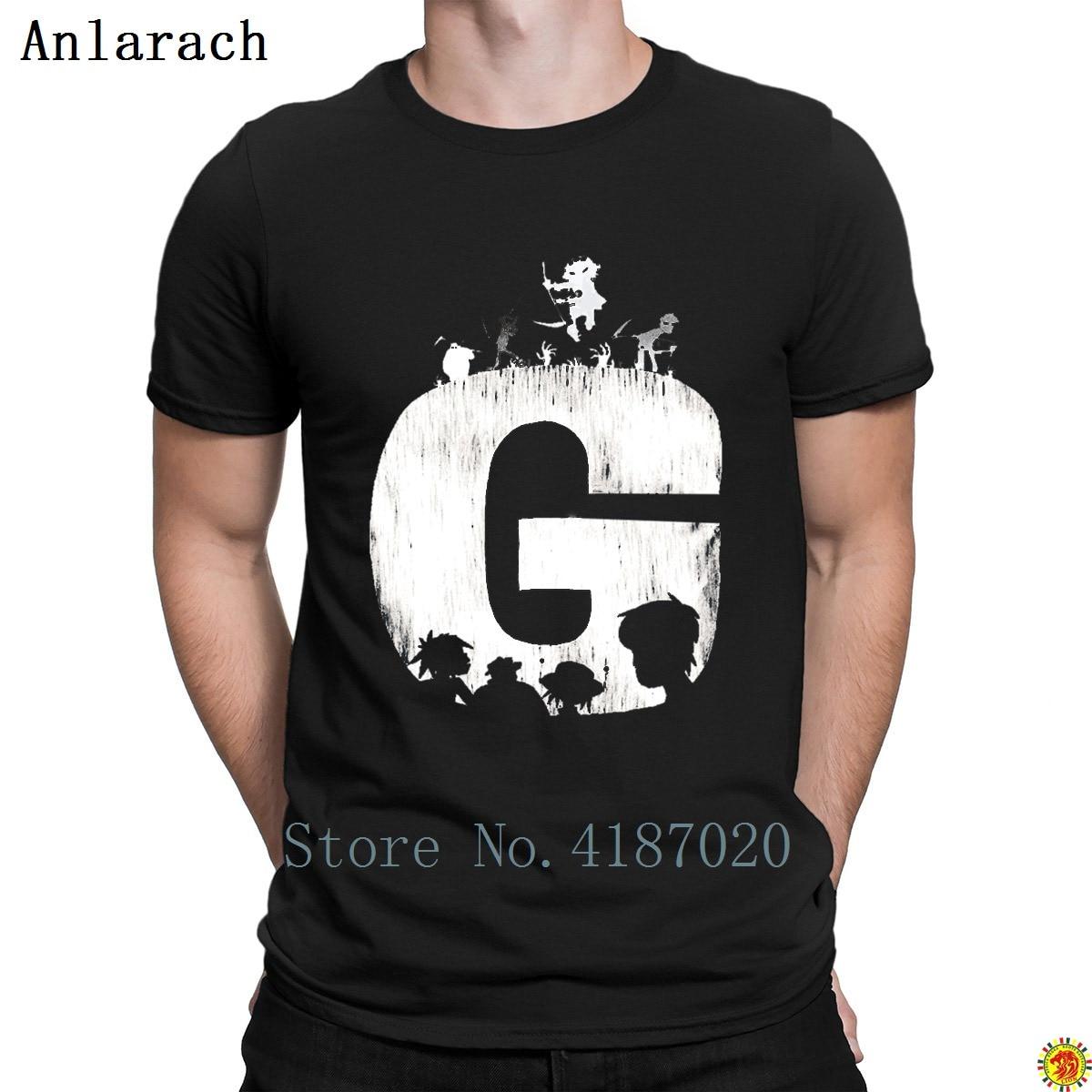 Gorillaz T Shirts 100 Cotton Cool Designer Summer Style Tshirt For