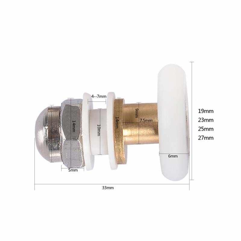 O envio gratuito de 1 peça latão único excêntrico porta do chuveiro rolos chuveiro rodas aplicadas a 4-6mm cabine de chuveiro CP190-1