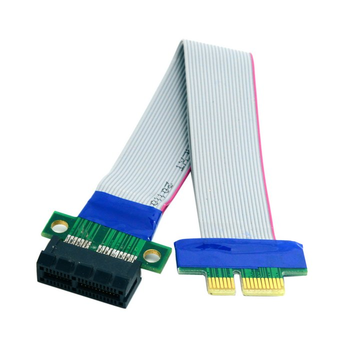 Riser PCI-E pci Express 1X X1 Slot Riser Card Extender Extension Flex Ruban Déménagement Câble 20 cm