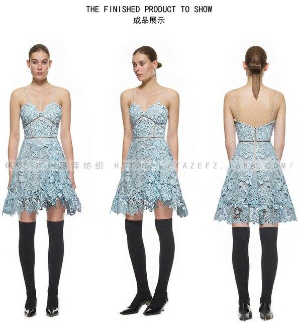 Satin vải lụa, phi Ren sữa silk vải ren Pháp Tăng Mô Hình Ren Đàn Hồi cho Ladies sky blue ren
