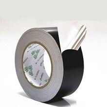 Black aluminum foil tape waterproof anti-aging high temperature resistant shielding foil tape 50 meters
