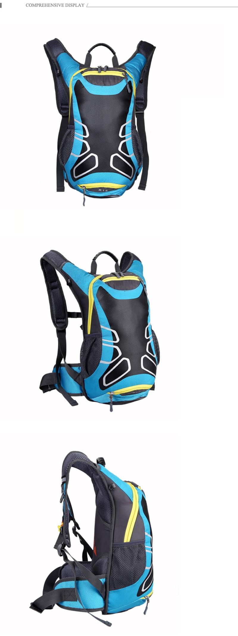 15l ciclismo sacos de basquete malha mochila