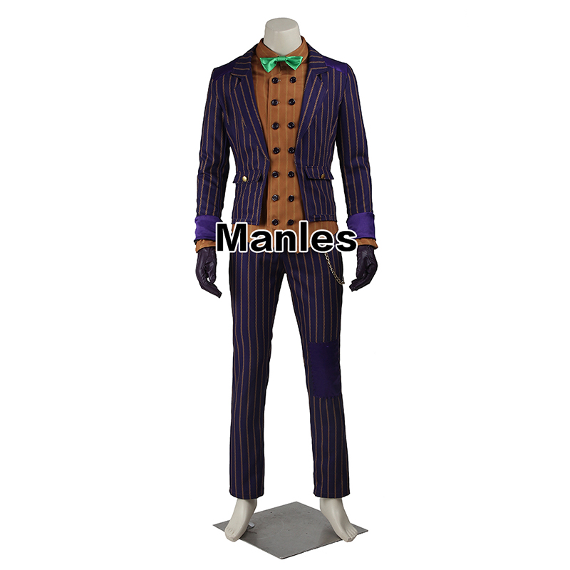 Image 2 - Batman Arkham Knight Joker Cosplay Costume Batman Costume Adult Cosplay Batman Joker Costume Halloween Outfit Male Custom Made-in Movie & TV costumes from Novelty & Special Use