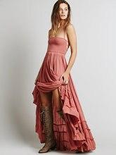 2017 пляжное платье пикантные Dress ES Boho богемные люди праздник Summer Длинные спинки хлопок женские вечерние хиппи Chic Vestidos Mujer