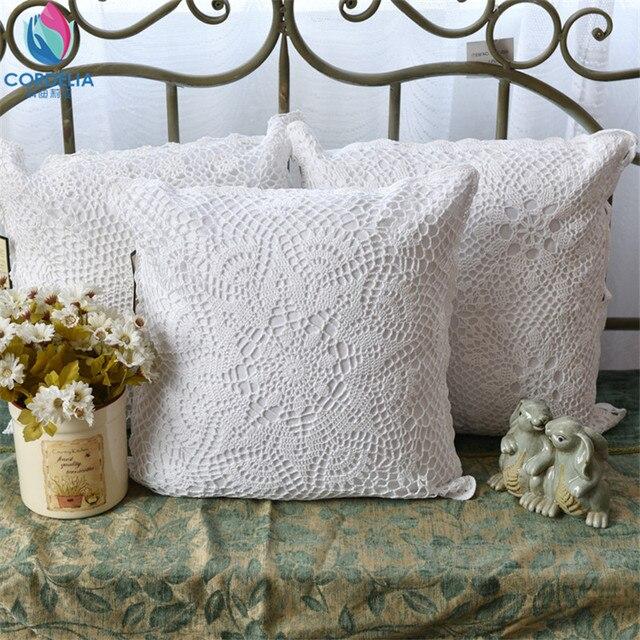 Funda de almohada de ganchillo de algodón natural de alta calidad de ...