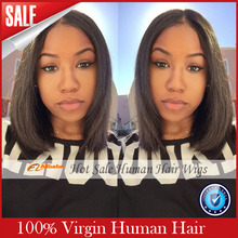 2016 Perruque Cheveux Humain Glueless Lace Front Human Hair Wigs Virgin Brazilian Bob Wig For African Americans Black Woman